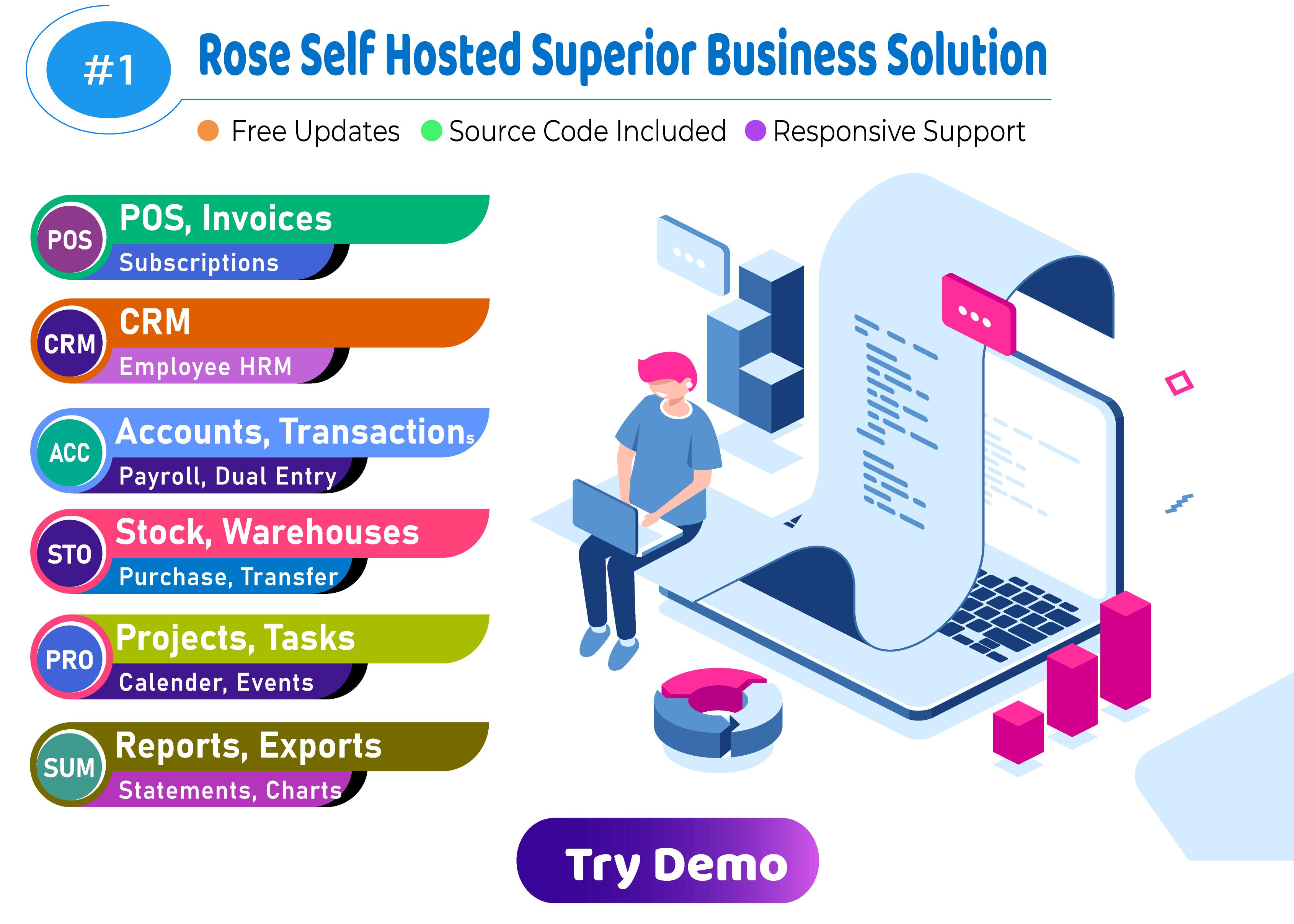 Rose Business Suite - Logiciels de comptabilité, CRM et POS - 1